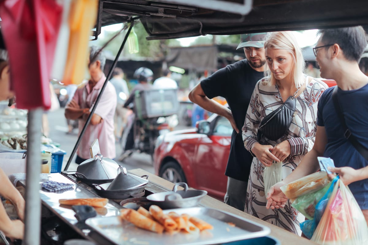 Get local with the morning hawkers at Apom Balik Stall