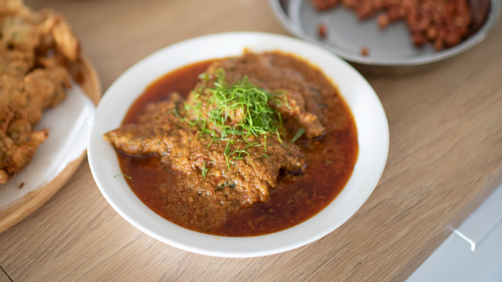 Chicken or Beef Rendang Malaysia Malay Cooking Class Penang with Chef Samuel