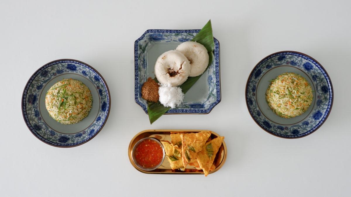 Nasi Ulam Tempeh Putu Piring Couple Cooking Class Penang with Chef Samuel