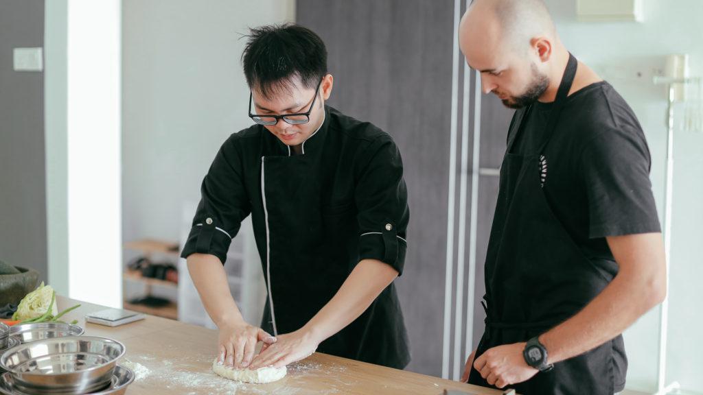 Roti Canai Dough Mamak Cooking Class Penang with Chef Samuel