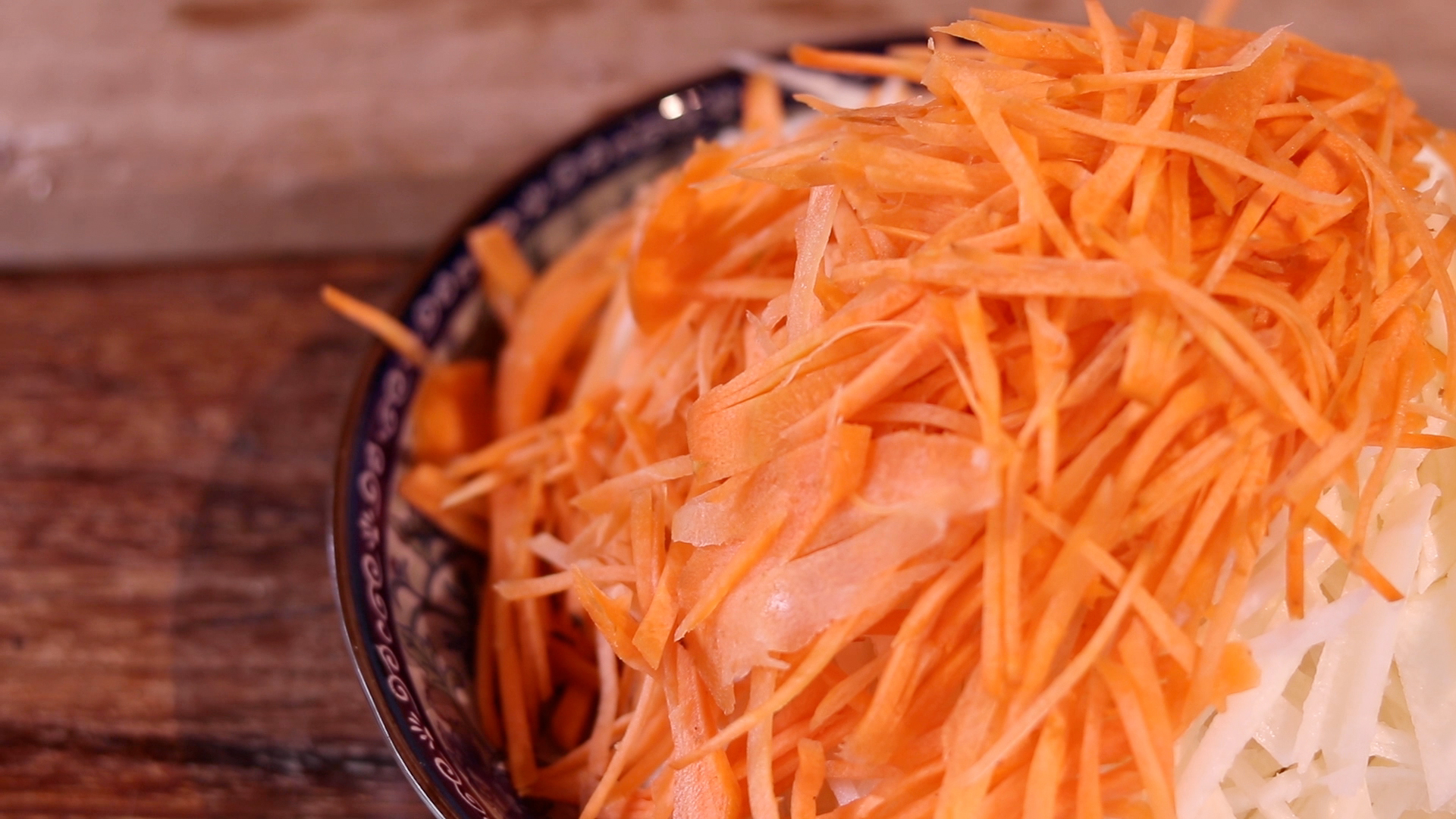 Sliced Thin Carrots for Jiu Hu Char